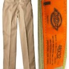 DD21 NEW 48/32 DICKIES CLASSIC WORK TAN BEIGE DURABLE MENS PRESSED PANTS