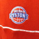 NEW SIZE L RED DETROIT PISTONS NBA HALF ZIP SWEATER JACKET PULLOVER MEN SHIRT