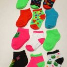 FH2 NEW (12)PAIR SOCKS BABY TODDLER GIRL 0-12 MONTH SHOE SZ 3-6 HEARTS WHOLESALE