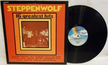 1980 STEPPENWOLF 16 GREATEST HITS MUSIC VINYL RECORD LP ALBUM 33RPM MCA 1599 ROCK EXCELLENT COND