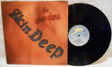 "THE STRANGLERS SKIN DEEP VINYL MUSIC RECORD LP ALBUM 12"" 45 RPM PUNK ROCK EX/VG+"