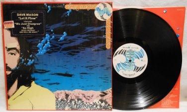 """DAVE MASON """"LET IT FLOW"""" 1977 VINYL MUSIC RECORD LP ALBUM IN ORIGINAL SHRINK NM/EX"""