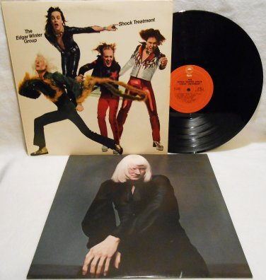 "THE EDGAR WINTER GROUP ""SHOCK TREATMENT"" VINYL RECORD LP ALBUM 1974 ROCK EX/EX"
