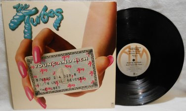 "THE TUBES ""YOUNG AND RICH"" VINYL MUSIC RECORD LP ALBUM 1976 ROCK EX/EX"