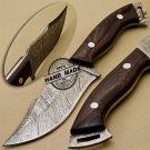 New Damascus Skinner Knife Custom Handmade Damascus Steel Hunting Knife