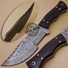 Damascus Tracker Knife Custom Handmade Damascus Steel Hunting Tracker Knife