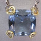 Judith Ripka Blue Fontaine .925 Sterling 18K Gold with Diamond Accents Necklace