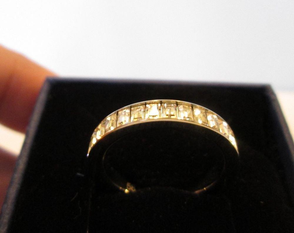 Swarovski Clear Crystal Baguette Shades Ring Size 8 (58) BNIB 1156322
