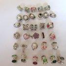 Lot of 32 Swarovski Chamilia Bead / Charm Orbit Oval Radiance .925 Sterling