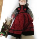 Heritage Signature Collection Annie Winter Doll with Sleigh 12178 Porcelain