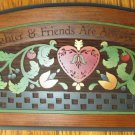 Decorative Wall Plaque Engraved Art Country Chic Woodcut Sunflowers