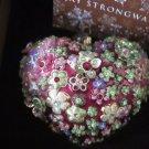 Jay Strongwater / Swarovski Blossom Heart Glass Ornament