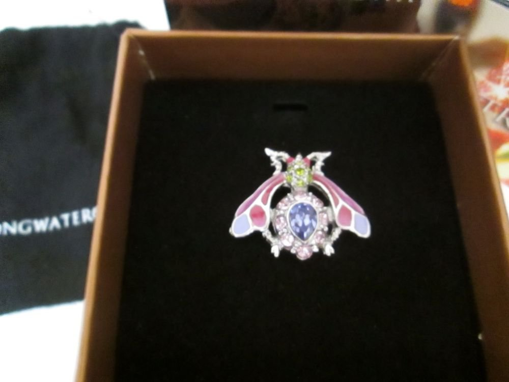 Jay Strongwater / Swarovski Nils Wasp Tack / Pin Jewelry Purple NIB