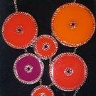Swarovski Noon Necklace 1084554 BNIB Orange Red Purple Statement Piece