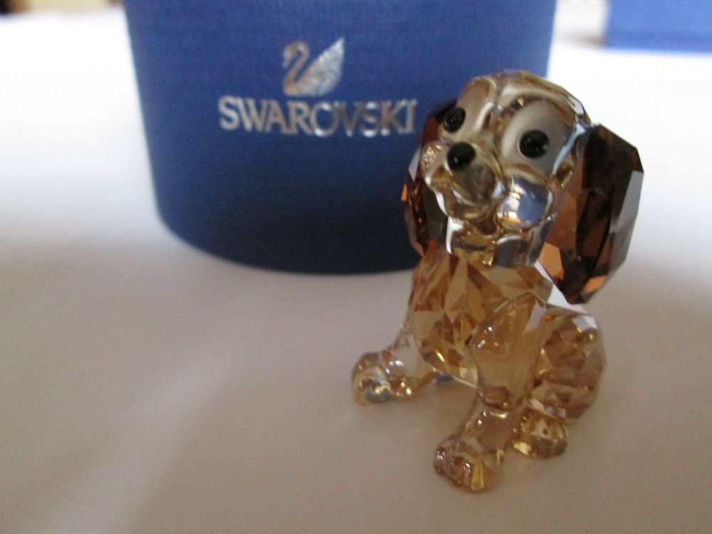 Swarovski Disney * Danielle * Dog Puppy From Lady and the Tramp Retired! 1089222