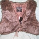 Primark - Ladies Faux Fur Bolero - Brown -  Size 14 - New with Tags