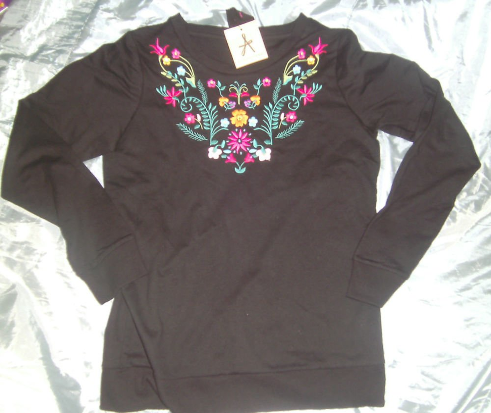 Primark/Atmosphere - Ladies Black Sweatshirt -New w/tags - Size 8/10/12/14