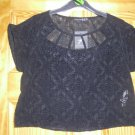 Primark - Ladies Black pattern print top - Size 12 - New with tags
