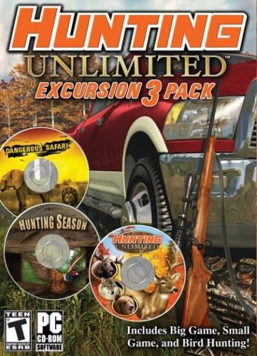 Hunting Unlimited Excursion 3 Pack - Big Game African Safari Duck PC NEW