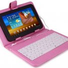 "7"" TABLET KEYBOARD CASE: PINK"