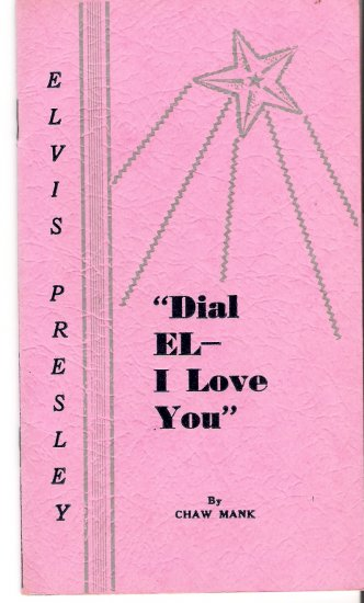 Elvis Presley 1962 Dial El I Love You 16-Page Privately Printed Booklet