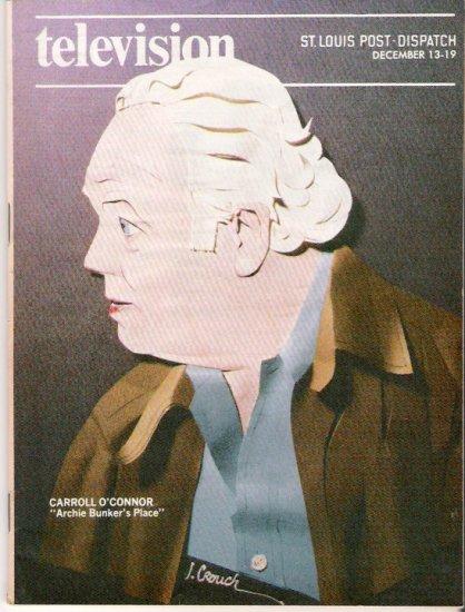 Carroll O'Connor Archie Bunker St. Louis Post-Dispatch TV Magazine December 13, 1981