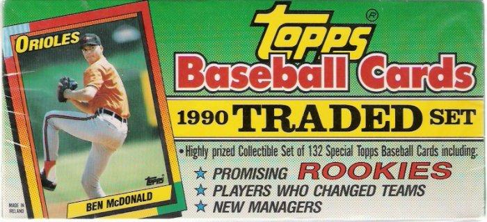 1990 Topps Baseball Traded Set