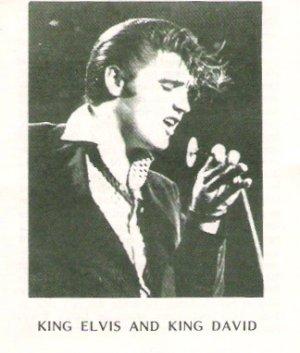 Original Elvis Presley King Elvis and King David Religious Tract Circa 1978