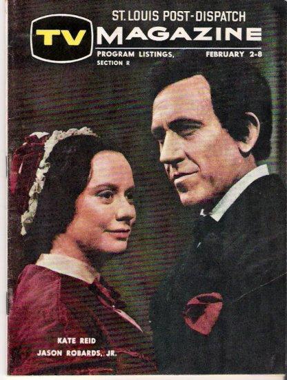 Jason Robards Kate Reid Abe Lincoln in Illinois St. Louis TV Magazine February 2, 1964