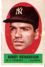 Bobby Richardson 1963 Topps Decal Insert