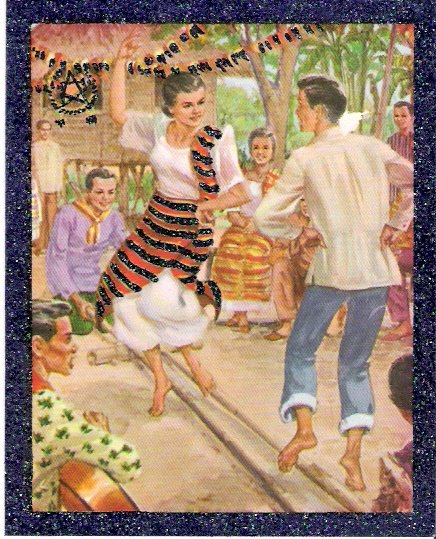 1957 Zamboanga City Philippines Collectible Christmas Card in Envelope