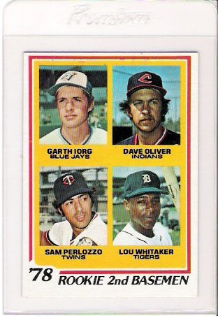 1978 Topps Lou Whitaker Rookie Baseball Card Near Mint