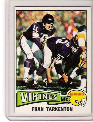 1975 Fran Tarkenton Topps Football Card
