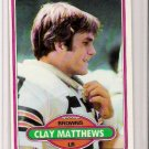 1980 Topps Clay Matthews Football Card #418
