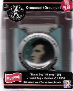 Elvis Presley 2004 Hound Dog Musical Christmas Ornament By American Geetings