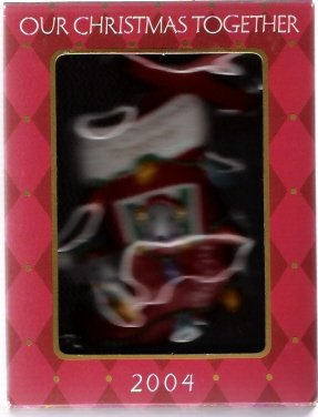 American Greetings Our Christmas Together 2004 Mice in Stocking Ornament Mint in Box