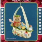 American Greetings Parents To Be Patriotic Baby Bear Christmas Ornament Mint in Box