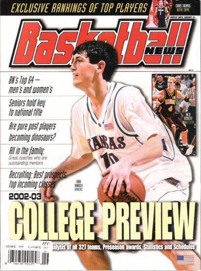 2002-03 Basketball News College Preview Magazine