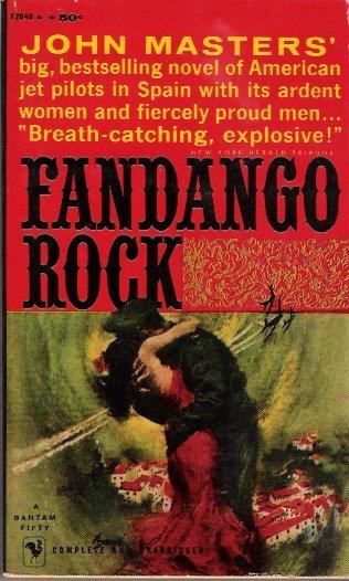 Fandango Rock 1960 by John Masters Bantam Fifty F2040 Vintage Paperback First Printing