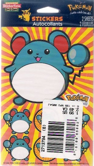 Pokemon Creatures Game Freak Stickers Mint in Package