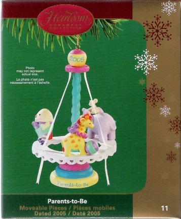 Carlton Cards Parents-To-Be 2005 #11 Carousel Christmas Ornament Mint in Box