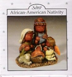 Scott's African-American Nativity Scene Vintage Christmas Collectible Mint in Box