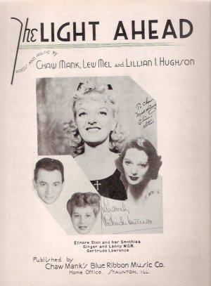 Gertrude Lawrence King and I Musical Star The Light Ahead 1944 Sheet Music