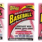 1991 Topps Baseball Cards Unopened Packs