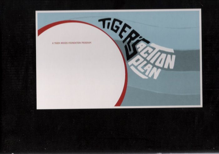 Vintage 2000 Tiger Woods Foundation Action Plan