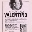 Rudolph Valentino 1966 Book Advertising Flyers