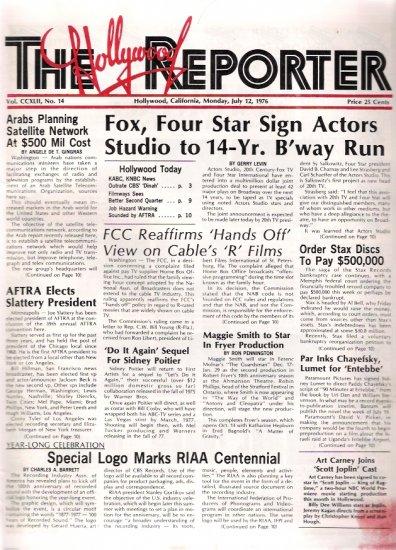 The Hollywood Reporter July 12, 1976 Movie Trade Magazine Arnold Schwarzenegger