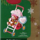 Carlton Cards My First Christmas 2005 Bear in Stroller #17 Ornament Mint in Box