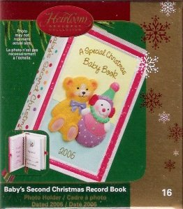 Carlton Cards Baby's Second Christmas Record Book #16 Xmas Ornament 2006 Mint in Box