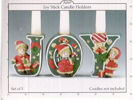 Scott's Joy Stick Christmas Candle Holders Mint in Box